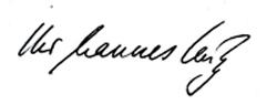 Eingescannte Unterschrift des Journalisten Hannes Külz
